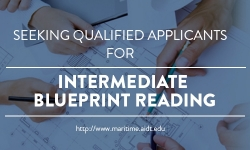 Seeking Qualitified Applicants for Intermediate Blueprint Reading Class