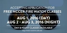 NCCER Fire Watch Classes in August